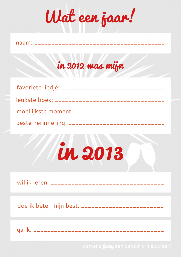 Goede voornemens voor 2013