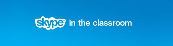 Skype in de klas