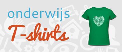 Onderwijs t-shirts - Een shirt voor elke meester, juf, leraar, lerares, docent, docente