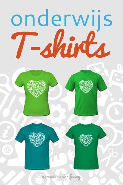 Onderwijs t-shirts - Een shirt voor elke meester, juf, leraar, lerares, docent en docente