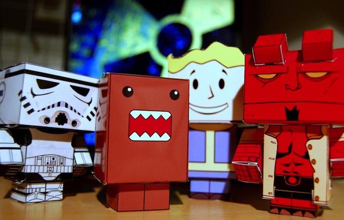 Papieren poppetjes knutselen - Cubeecraft by Lemsipmatt